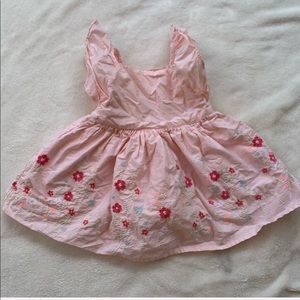 BABY GAP pink floral 6-12M dress for girls